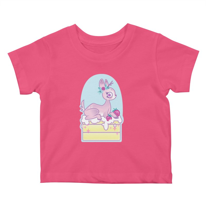 Deery Cake Kids Baby T-Shirt by kathudsonart's Artist Shop