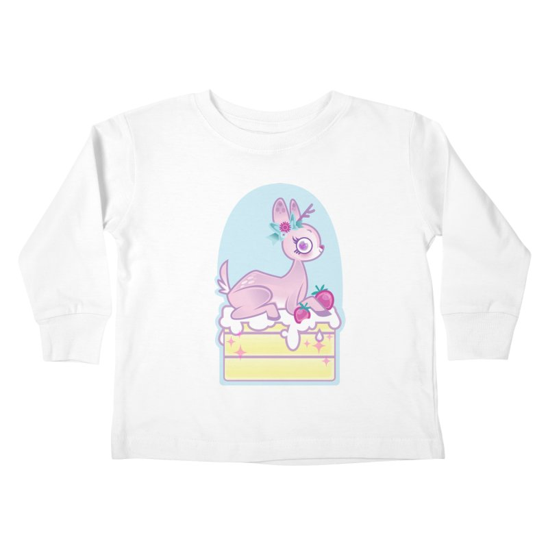 Deery Cake Kids Toddler Longsleeve T-Shirt by kathudsonart's Artist Shop