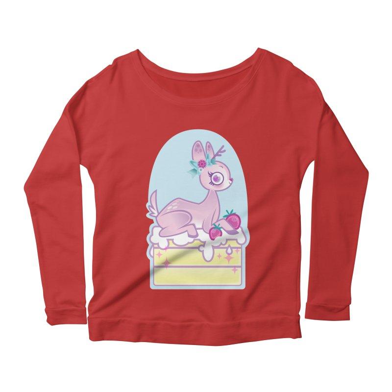 Deery Cake Women's Scoop Neck Longsleeve T-Shirt by kathudsonart's Artist Shop