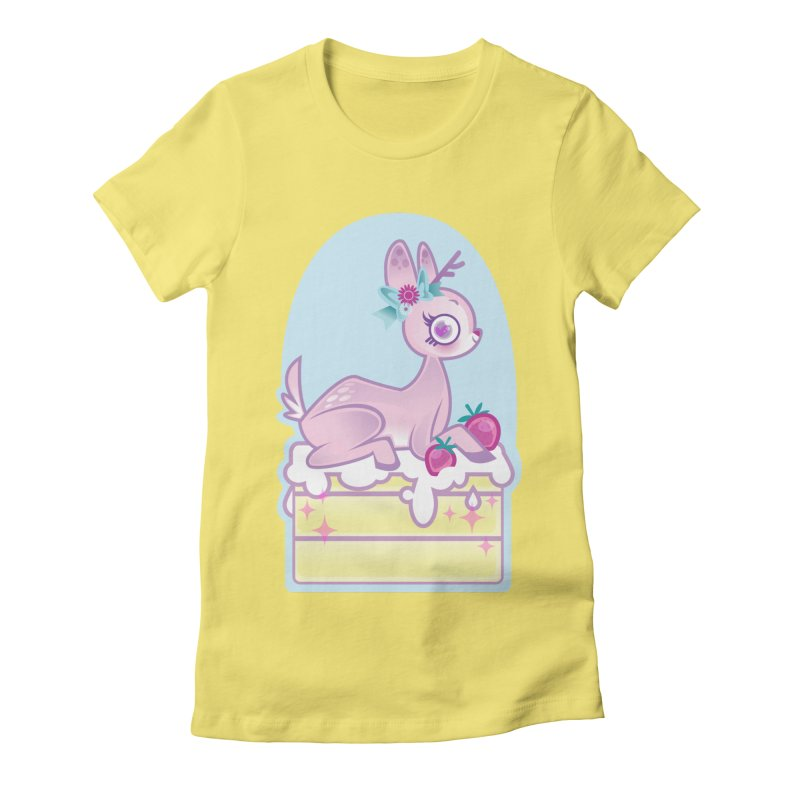Deery Cake Women's Fitted T-Shirt by kathudsonart's Artist Shop