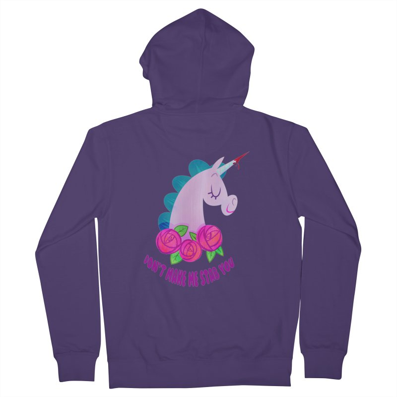 Stabby Women's French Terry Zip-Up Hoody by kathudsonart's Artist Shop