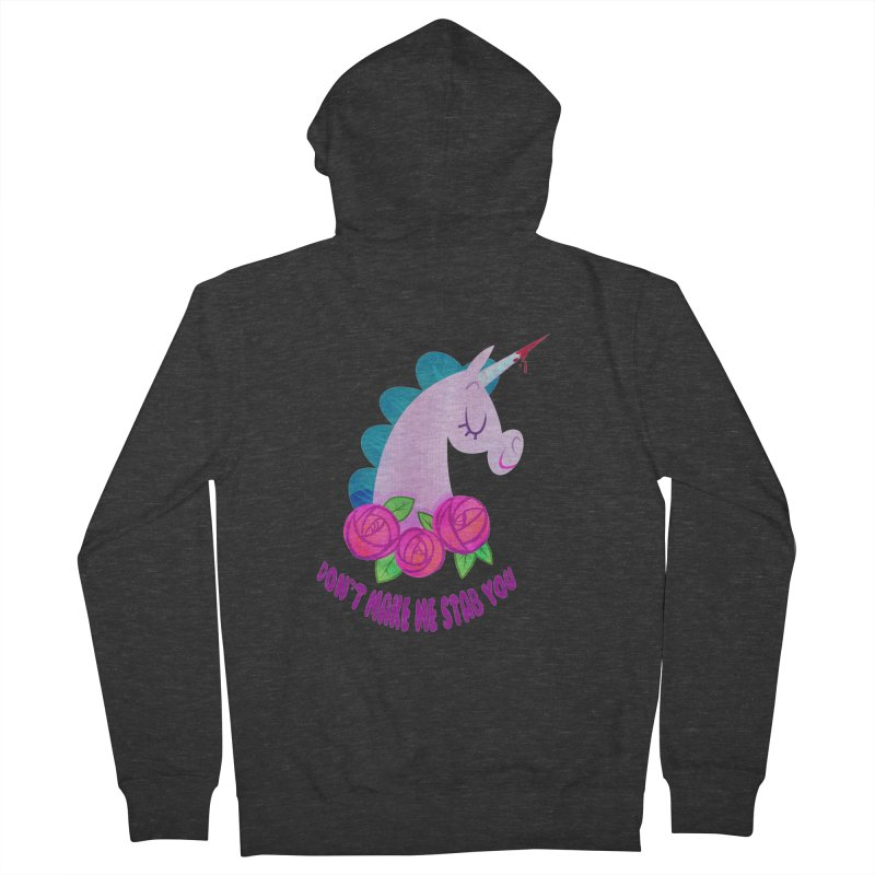 Stabby Men's French Terry Zip-Up Hoody by kathudsonart's Artist Shop