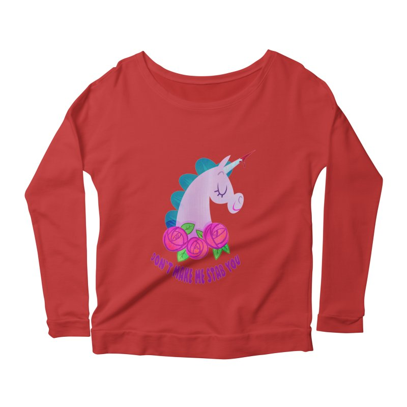 Stabby Women's Scoop Neck Longsleeve T-Shirt by kathudsonart's Artist Shop