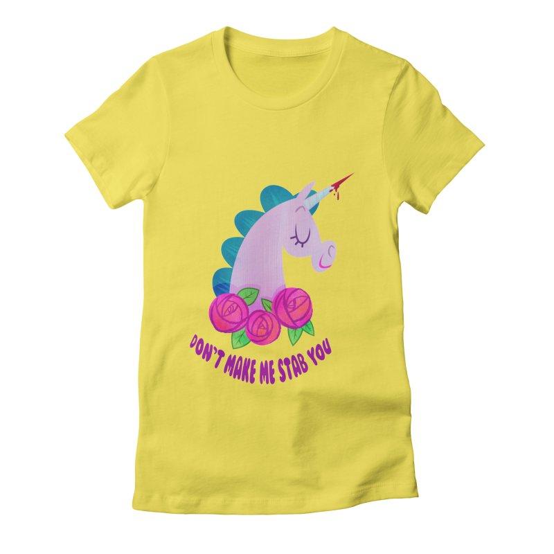 Stabby Women's Fitted T-Shirt by kathudsonart's Artist Shop