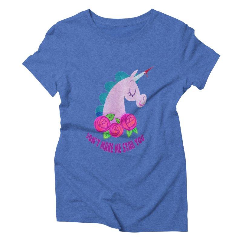 Stabby Women's Triblend T-Shirt by kathudsonart's Artist Shop