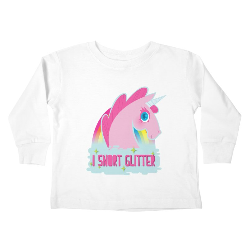 Snort Kids Toddler Longsleeve T-Shirt by kathudsonart's Artist Shop