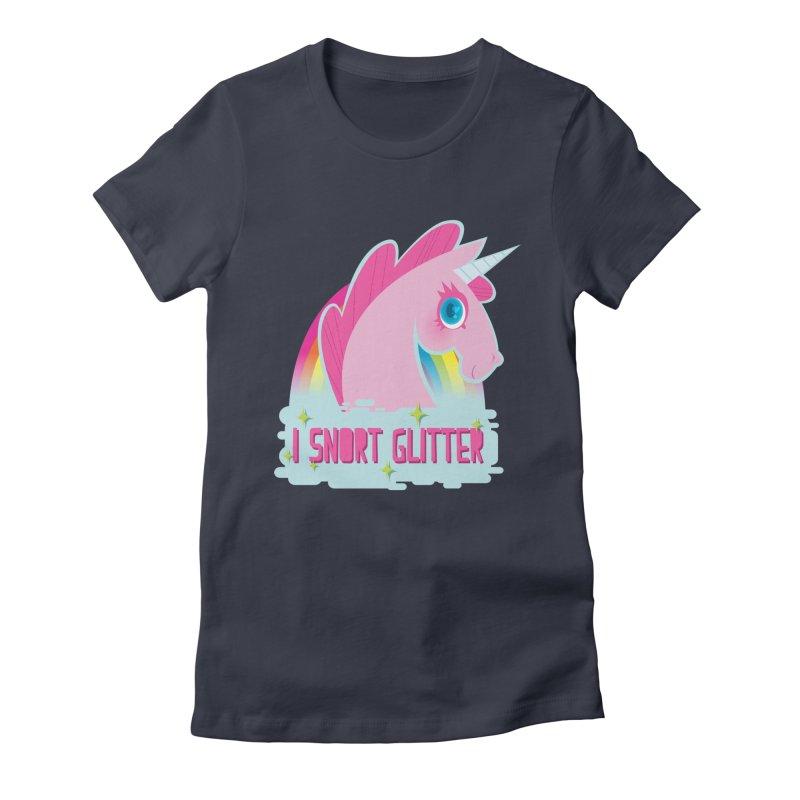 Snort Women's Fitted T-Shirt by kathudsonart's Artist Shop