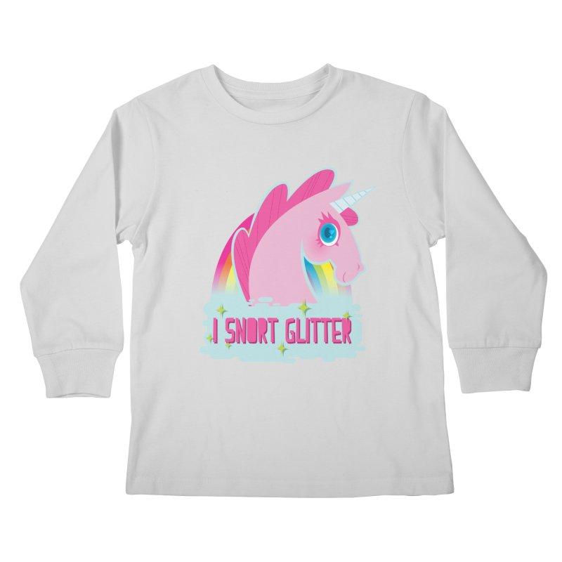 Snort Kids Longsleeve T-Shirt by kathudsonart's Artist Shop