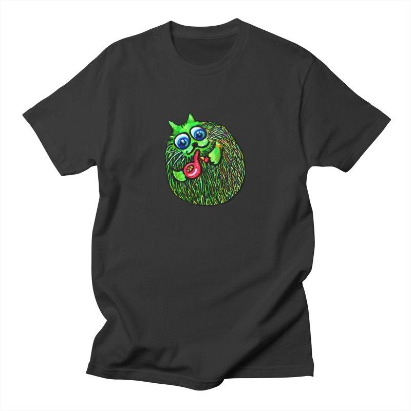 Puff Puff Kirry Cat Men's T-Shirt by Katia Goa's Artist Shop