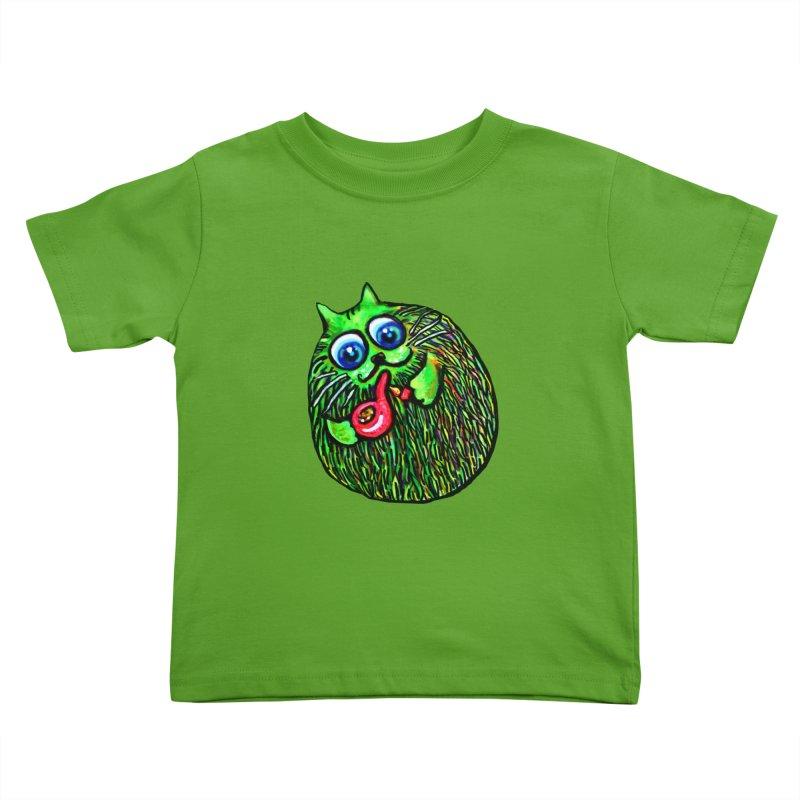 Puff Puff Kirry Cat Kids Toddler T-Shirt by Katia Goa's Artist Shop