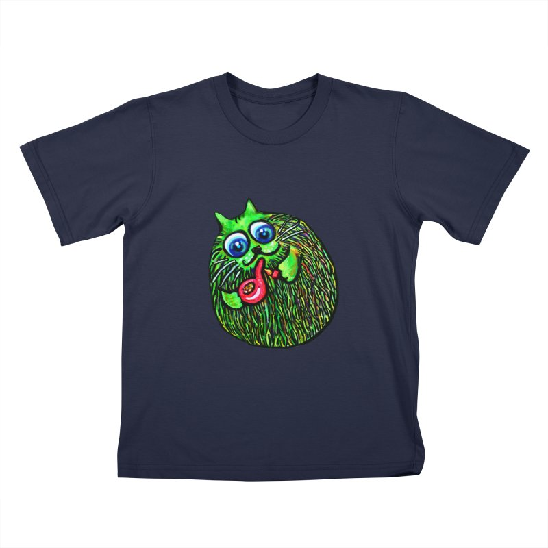 Puff Puff Kirry Cat Kids T-Shirt by Katia Goa's Artist Shop