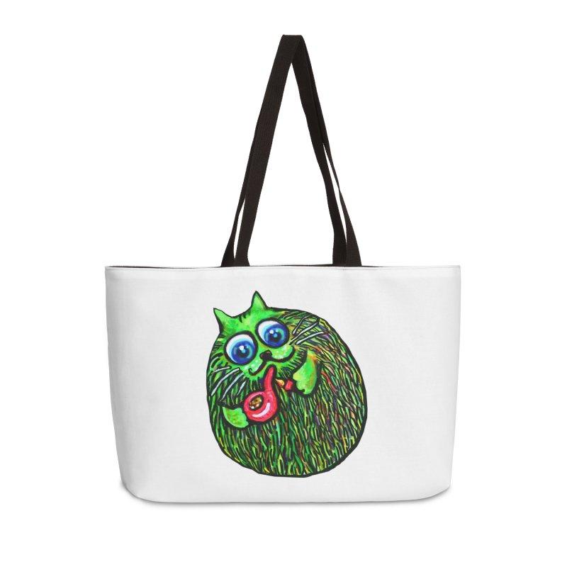 Puff Puff Kirry Cat Accessories Bag by Katia Goa's Artist Shop