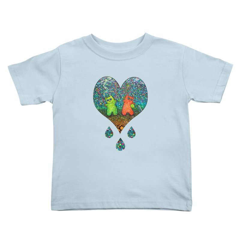 Rain Dance Heart Kids Toddler T-Shirt by Katia Goa's Artist Shop