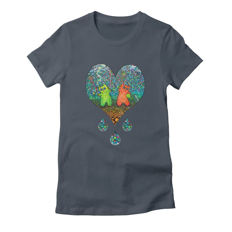 Rain Dance Heart Women's T-Shirt by Katia Goa's Artist Shop