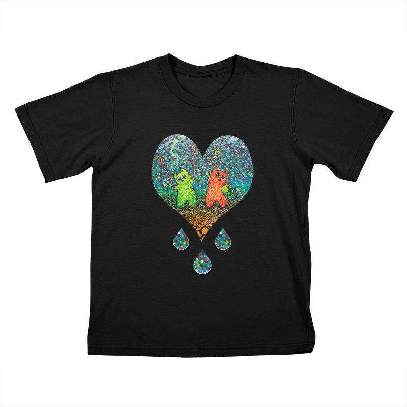Rain Dance Heart Kids T-Shirt by Katia Goa's Artist Shop