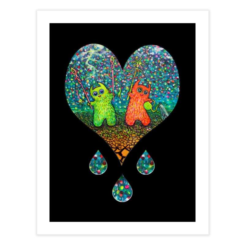 Rain Dance Heart Home Fine Art Print by Katia Goa's Artist Shop
