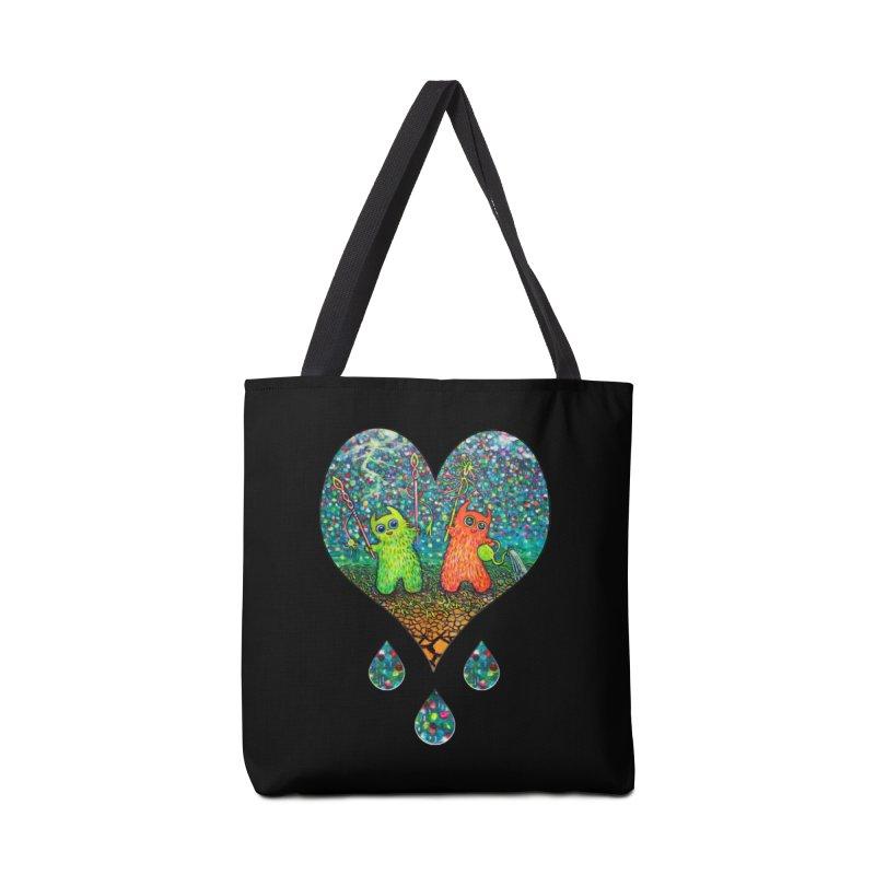 Rain Dance Heart Accessories Bag by Katia Goa's Artist Shop