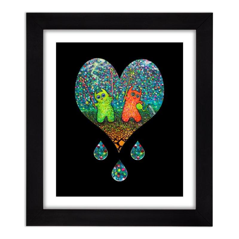 Rain Dance Heart Home Framed Fine Art Print by Katia Goa's Artist Shop
