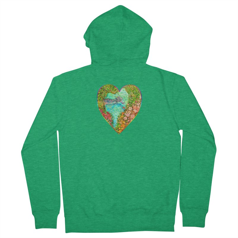 Dragon Heart Women's Zip-Up Hoody by Katia Goa's Artist Shop