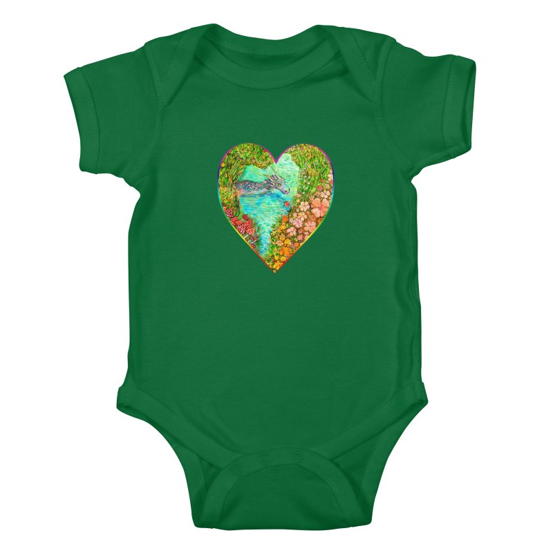 Dragon Heart Kids Baby Bodysuit by Katia Goa's Artist Shop