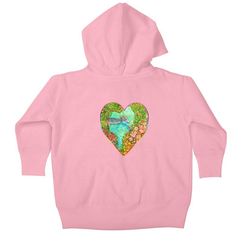 Dragon Heart Kids Baby Zip-Up Hoody by Katia Goa's Artist Shop