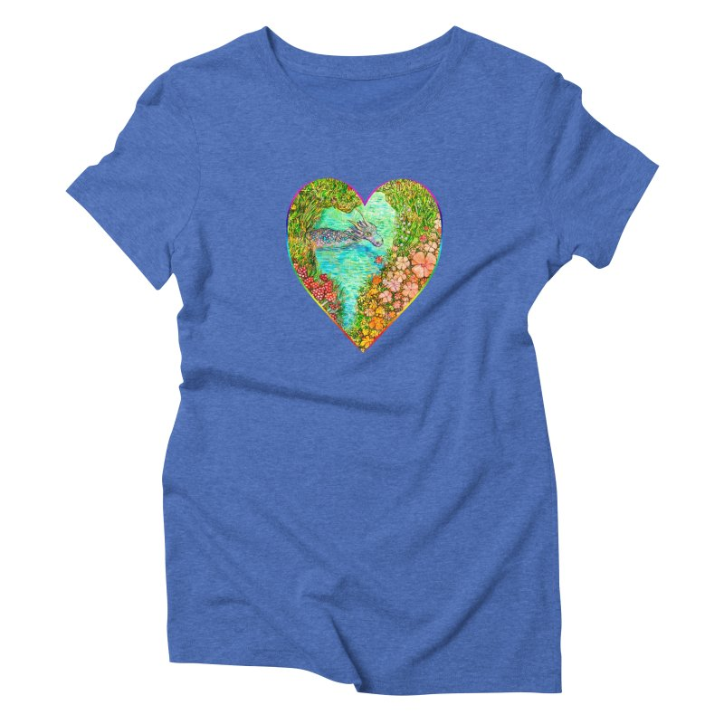 Dragon Heart Women's T-Shirt by Katia Goa's Artist Shop