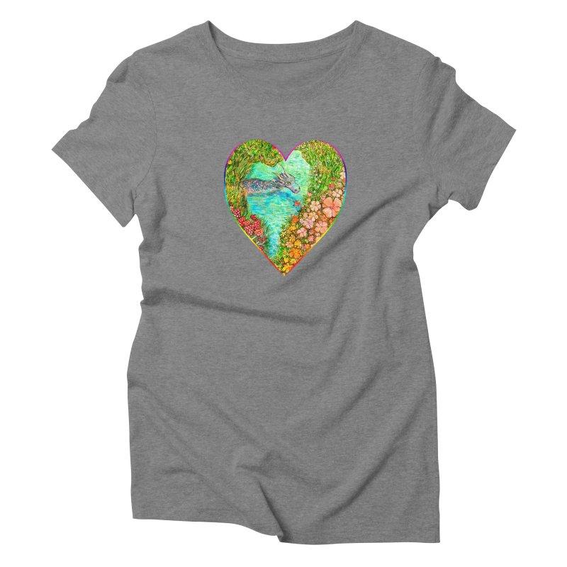 Dragon Heart Women's T-Shirt by Katia Goa's Artist Shop
