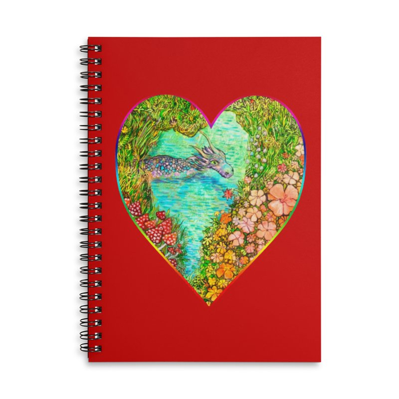 Dragon Heart Accessories Notebook by Katia Goa's Artist Shop