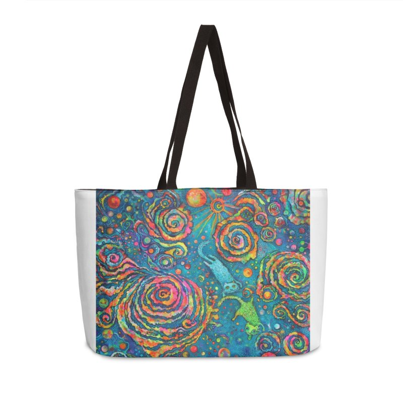 Space Cats Accessories Bag by Katia Goa's Artist Shop