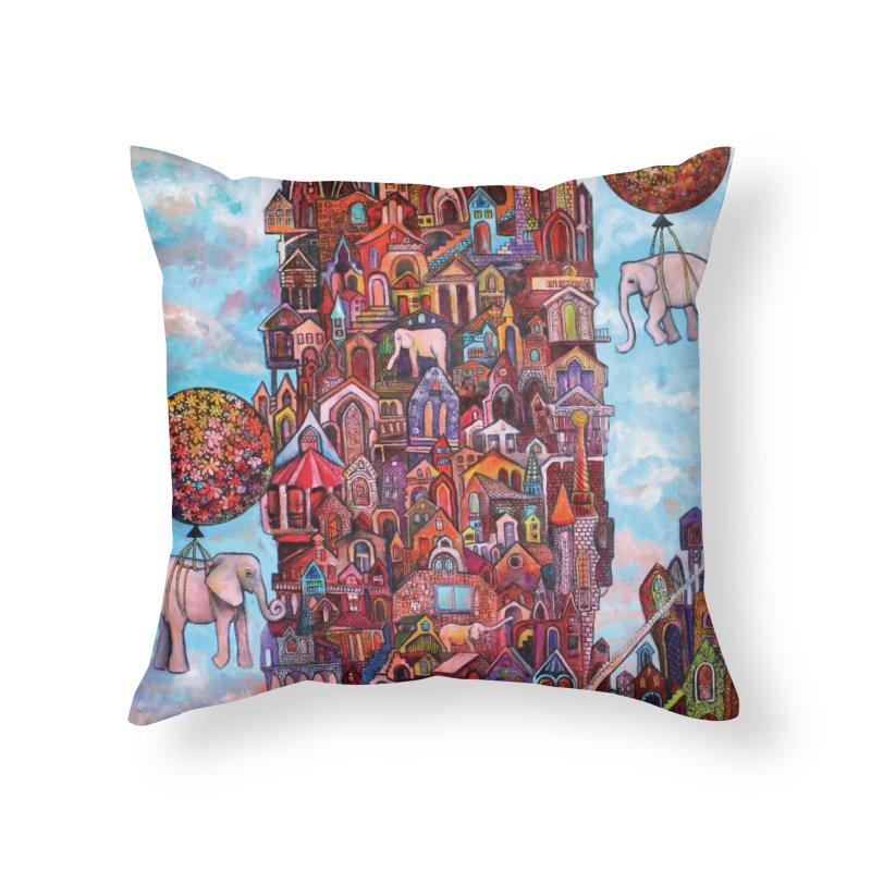 No Name City Home Throw Pillow by Katia Goa's Artist Shop