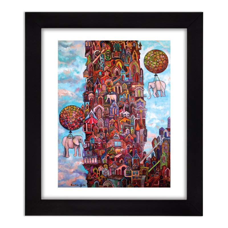 No Name City Home Framed Fine Art Print by Katia Goa's Artist Shop
