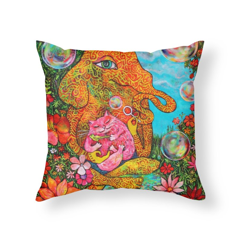 Afternoon Bubbles Home Throw Pillow by Katia Goa's Artist Shop