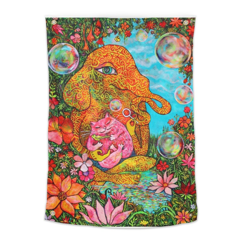 Afternoon Bubbles Home Tapestry by Katia Goa's Artist Shop