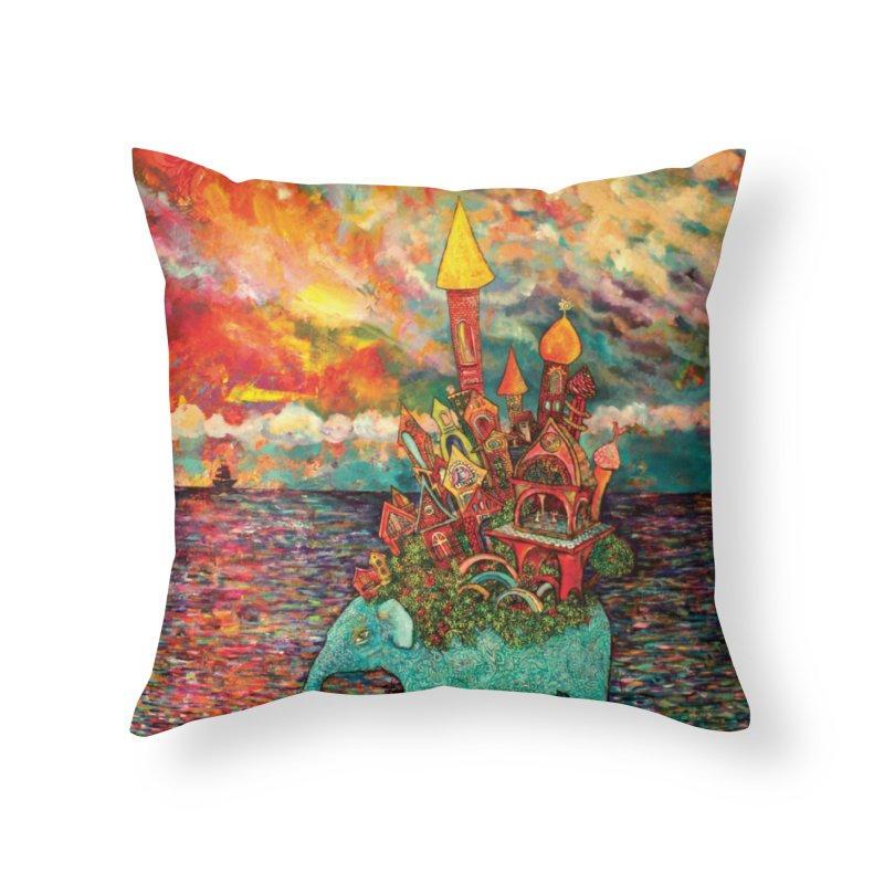 Warm Waters Home Throw Pillow by Katia Goa's Artist Shop