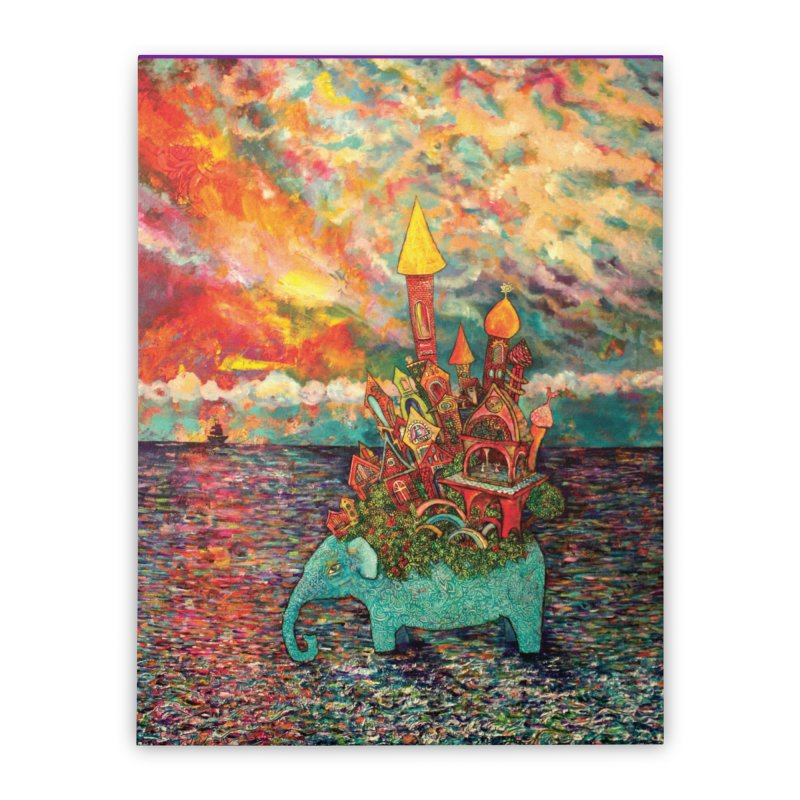 Warm Waters Home Stretched Canvas by Katia Goa's Artist Shop