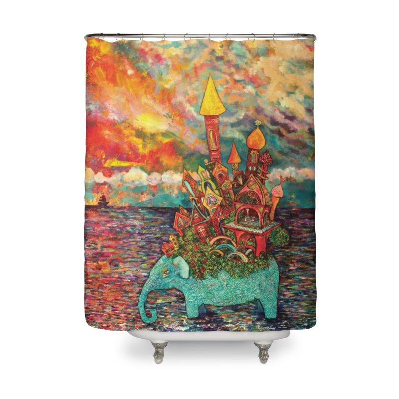 Warm Waters Home Shower Curtain by Katia Goa's Artist Shop