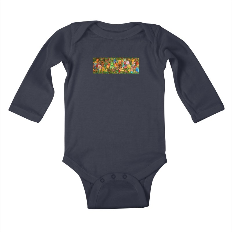 Happy Meadow Kids Baby Longsleeve Bodysuit by Katia Goa's Artist Shop