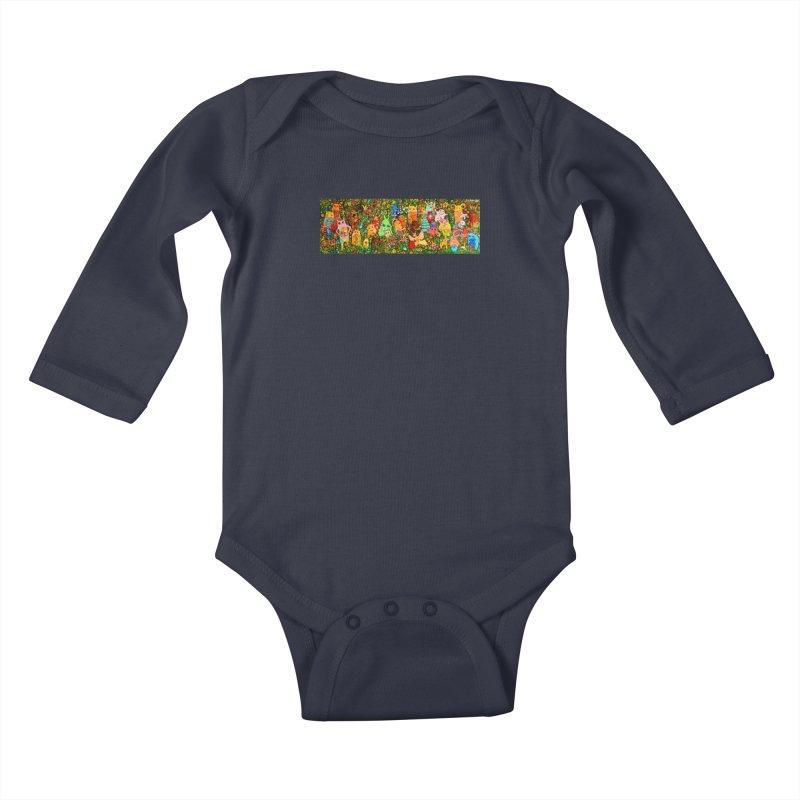Happy Meadow Kids Baby Longsleeve Bodysuit by Katia Goa's Artist Shop
