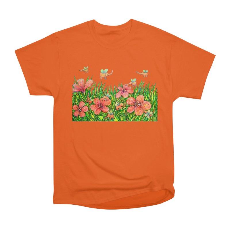 Warm Buzz / Elephant Party Men's T-Shirt by Katia Goa's Artist Shop
