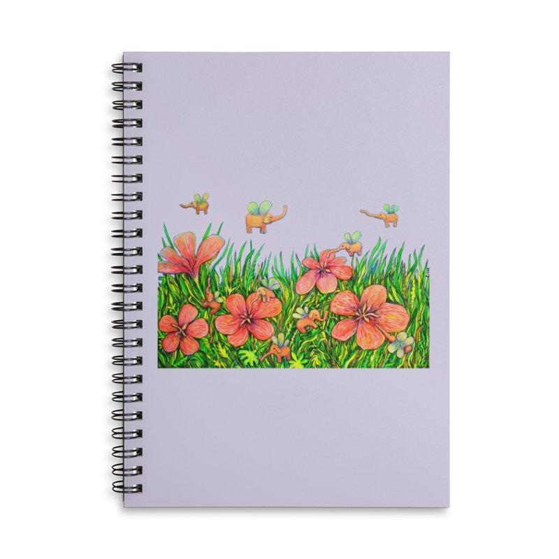 Warm Buzz / Elephant Party Accessories Notebook by Katia Goa's Artist Shop