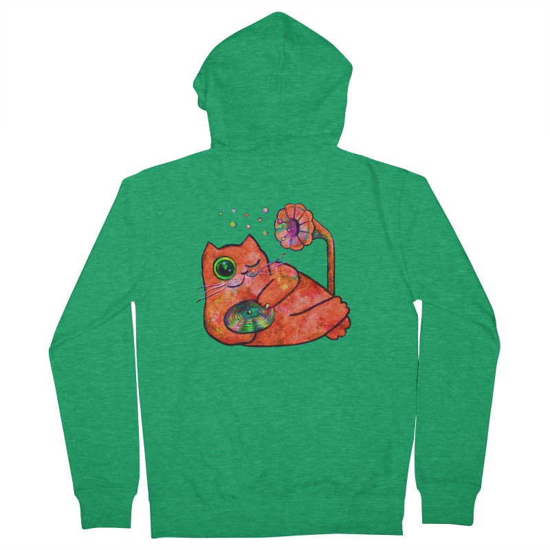 """""""This Song is for you"""" Dj Fat Cat Women's Zip-Up Hoody by Katia Goa's Artist Shop"""