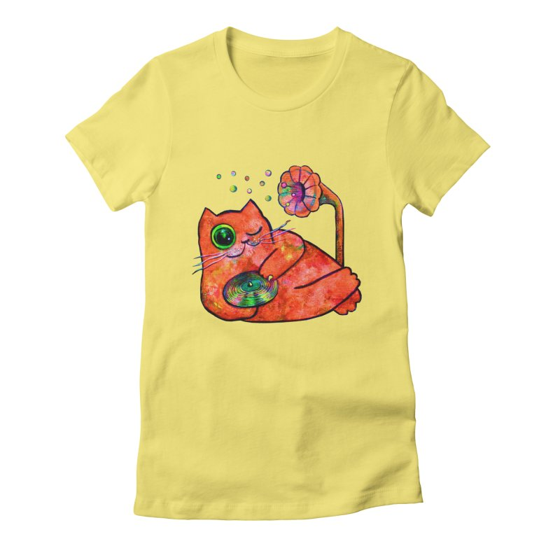"""""""This Song is for you"""" Dj Fat Cat Women's T-Shirt by Katia Goa's Artist Shop"""