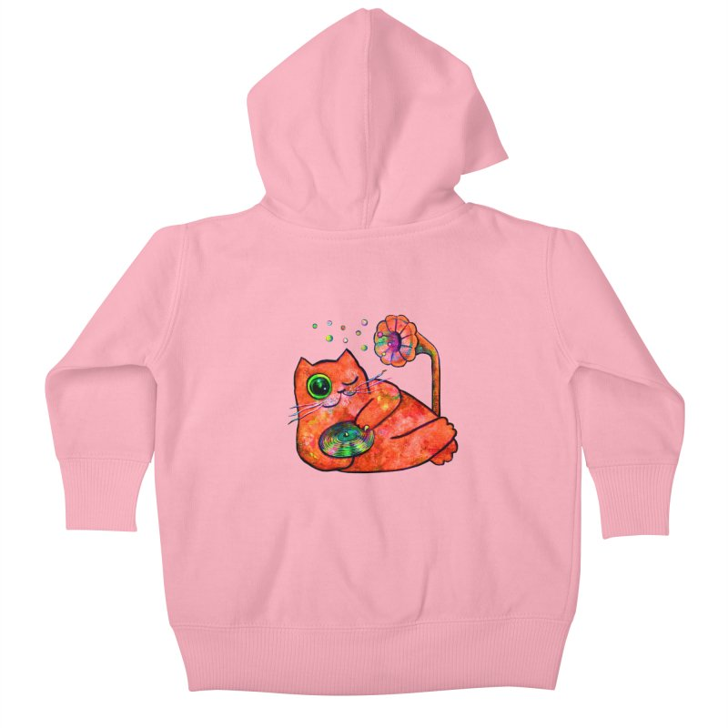 """This Song is for you"" Dj Fat Cat Kids Baby Zip-Up Hoody by Katia Goa's Artist Shop"