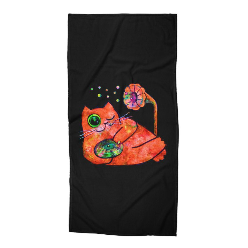 """""""This Song is for you"""" Dj Fat Cat Accessories Beach Towel by Katia Goa's Artist Shop"""
