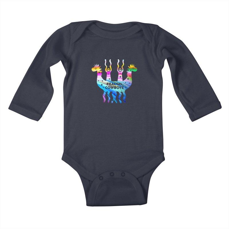 Fractal Cowboys Kids Baby Longsleeve Bodysuit by Katia Goa's Artist Shop
