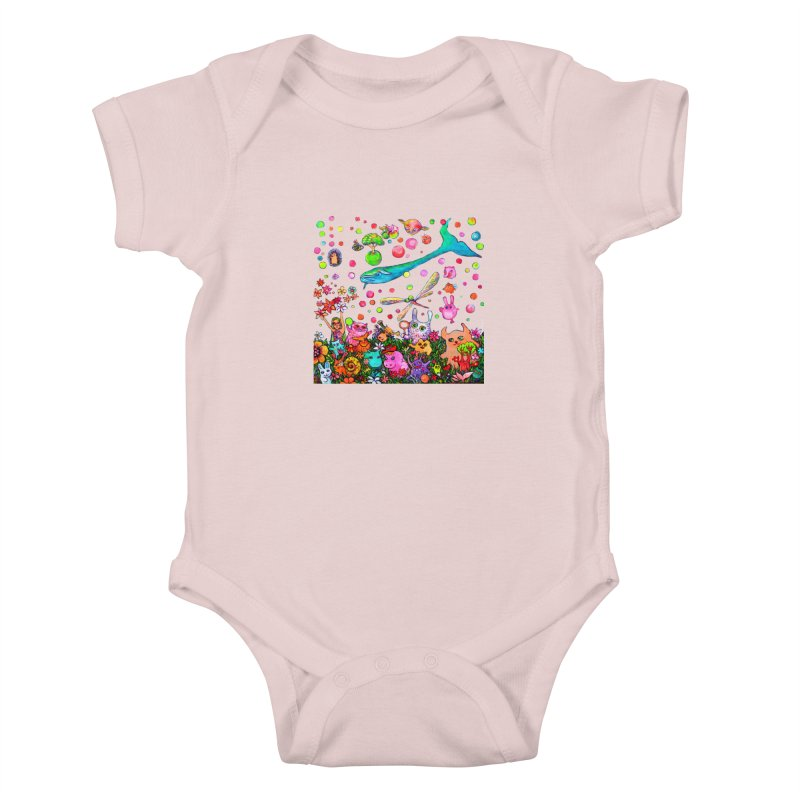 Polka Dots Kids Baby Bodysuit by Katia Goa's Artist Shop
