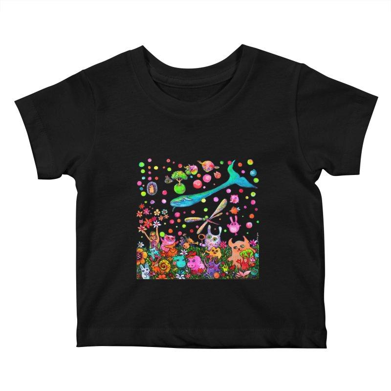 Polka Dots Kids Baby T-Shirt by Katia Goa's Artist Shop