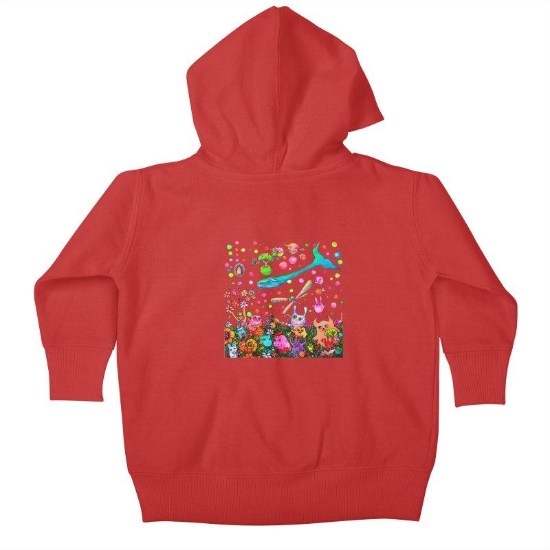 Polka Dots Kids Baby Zip-Up Hoody by Katia Goa's Artist Shop