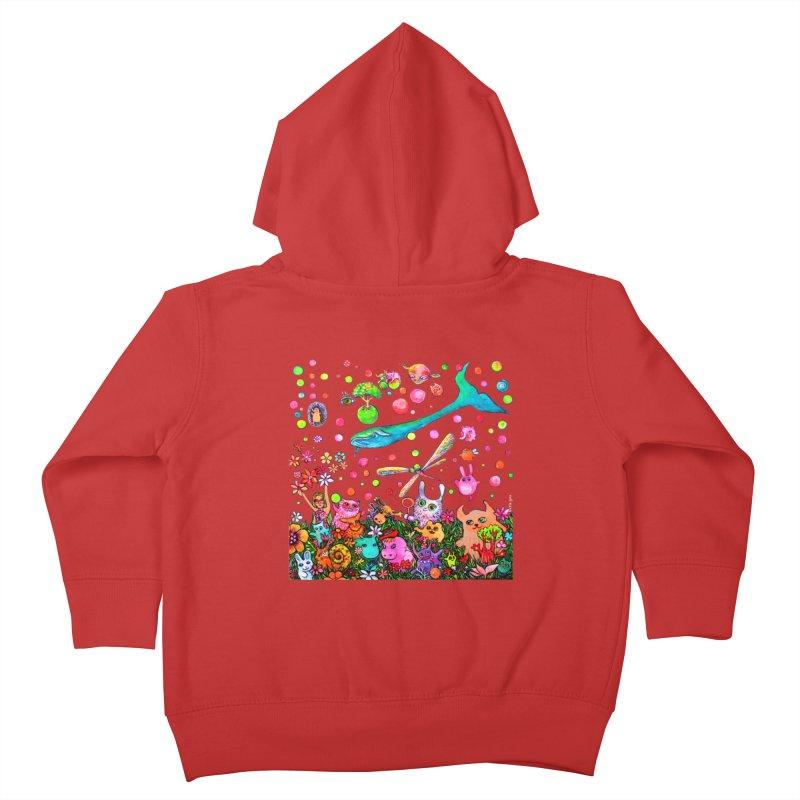Polka Dots Kids Toddler Zip-Up Hoody by Katia Goa's Artist Shop