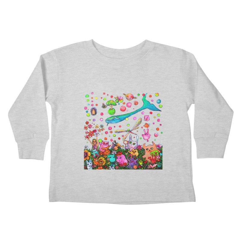 Polka Dots Kids Toddler Longsleeve T-Shirt by Katia Goa's Artist Shop
